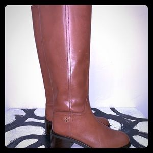Tory Burch Tan Brown Riding Boots - Size 5